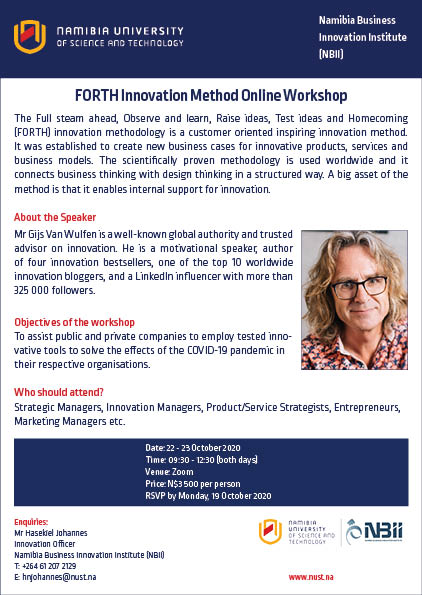 Forth Innovation method online workshop